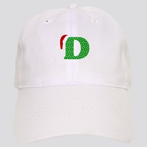 Christmas Monogram Letter D Cap
