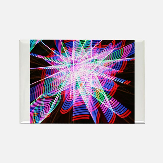 abstract colorful fair ride Magnets