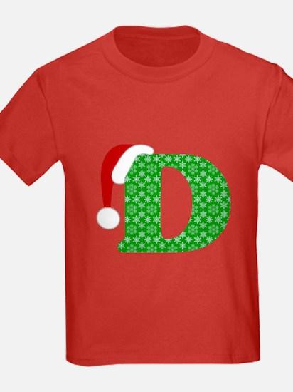 Christmas Monogram Letter D T
