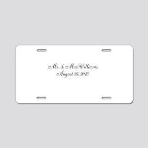 Personalized Wedding Name Date Aluminum License Pl