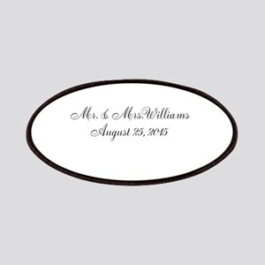 Personalized Wedding Name Date Patches