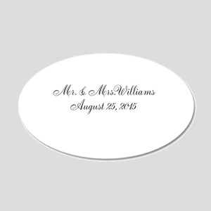 Personalized Wedding Name Date Wall Decal