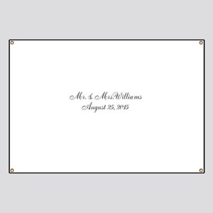 Personalized Wedding Name Date Banner