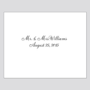 Personalized Wedding Name Date Posters
