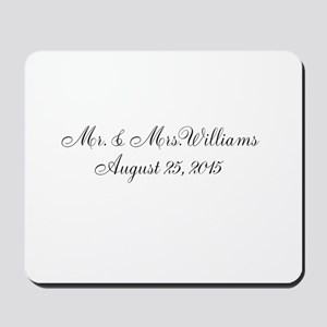 Personalized Wedding Name Date Mousepad