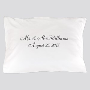 Personalized Wedding Name Date Pillow Case