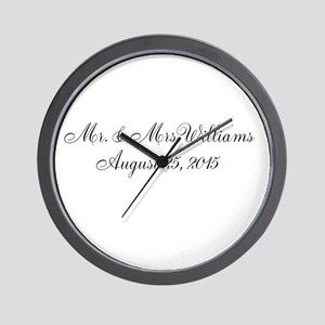 Personalized Wedding Name Date Wall Clock