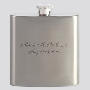 Personalized Wedding Name Date Flask