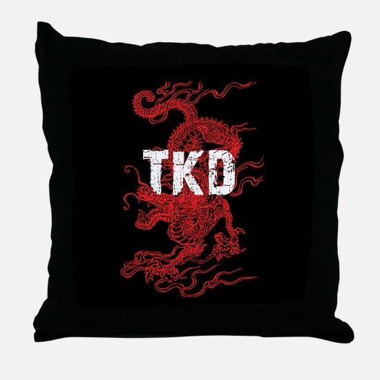 TKD Dragon Throw Pillow
