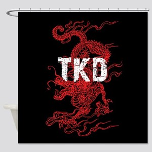 Tkd Dragon Shower Curtain