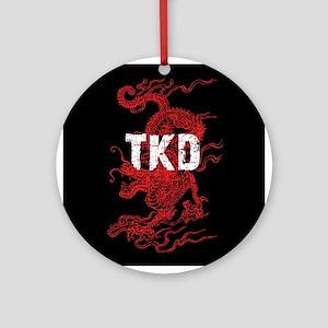 TKD Dragon Ornament (Round)
