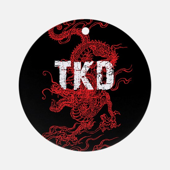 TKD Dragon Ornament (Round)