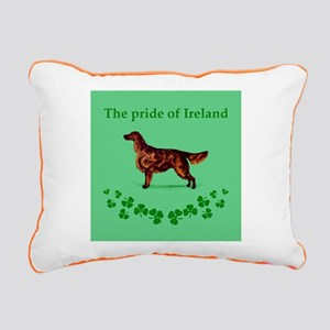 Irish Setter Rectangular Canvas Pillow
