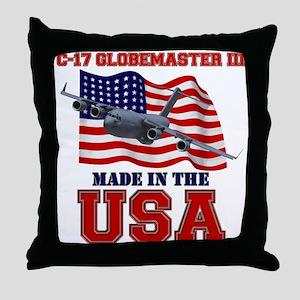 C-17 Globemaster III Throw Pillow