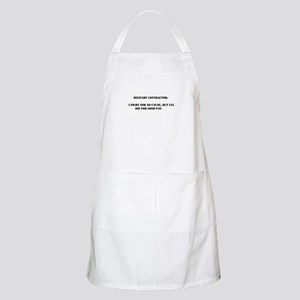 Military contractor BBQ Apron