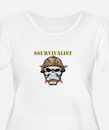 SSurvivalist Plus Size T-Shirt