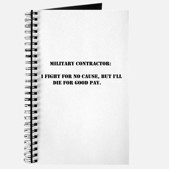 Military contractor Journal