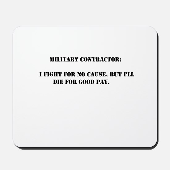 Military contractor Mousepad