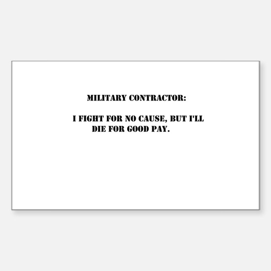 Military contractor Rectangle Decal