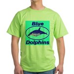 Blue Dolphins Green T-Shirt