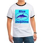 Blue Dolphins Ringer T