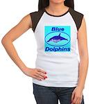 Blue Dolphins Women's Cap Sleeve T-Shirt