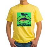Blue Dolphins Yellow T-Shirt