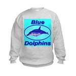 Blue Dolphins Kids Sweatshirt