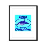 Blue Dolphins Framed Panel Print