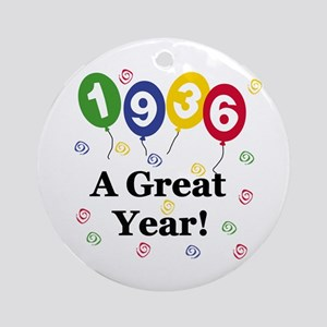 1936 A Great Year Ornament (Round)