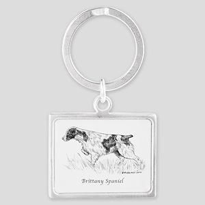 Brittany Spaniel Landscape Keychain