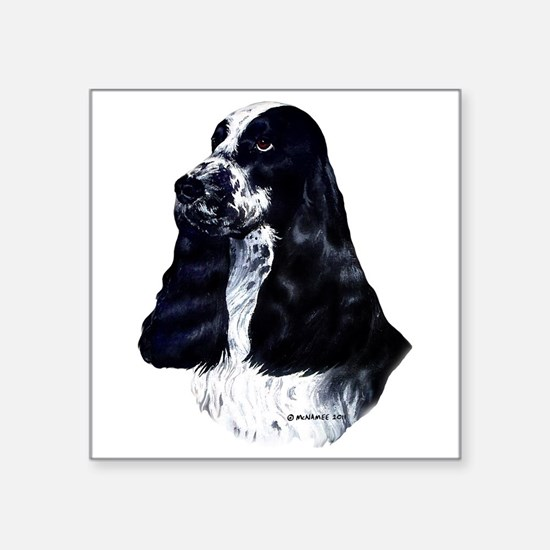 "English Cocker Spaniel Square Sticker 3"" x 3"""