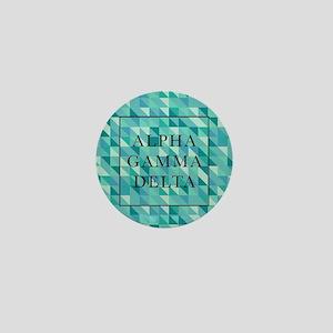 Alpha Gamma Delta Geometric Mini Button