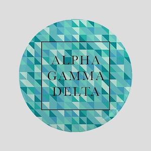 """Alpha Gamma Delta Geometric 3.5"""" Button"""