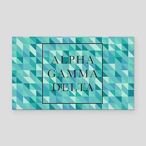 Alpha Gamma Delta Geometric Rectangle Car Magnet