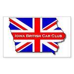 Iowa British Sticker (Rect.)