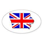 Iowa British Oval Sticker