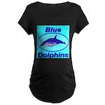 Blue Dolphins Maternity Dark T-Shirt