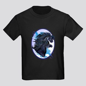 Racing The Wind For The Joy Of I Kids Dark T-Shirt