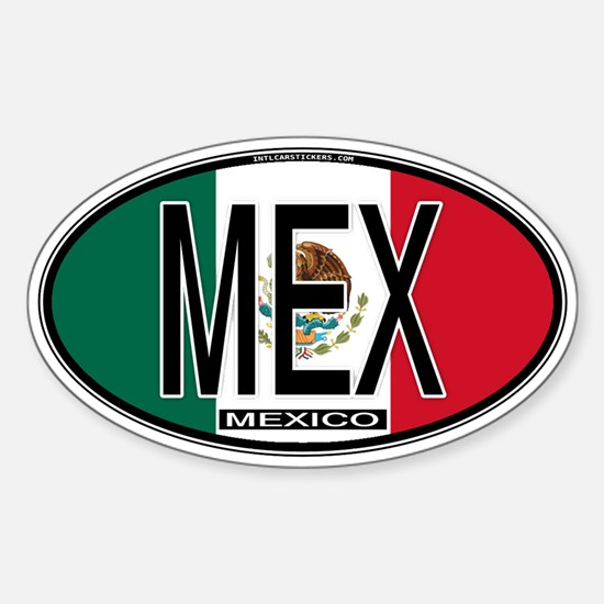 Mexico Colors Oval Decal
