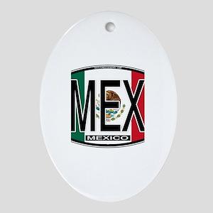 Mexico Colors Oval Ornament
