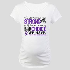 Crohn's HowStrongWeAre Maternity T-Shirt