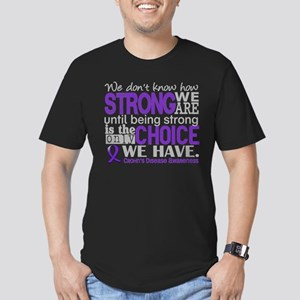 Crohn's HowStrongWeAre Men's Fitted T-Shirt (dark)