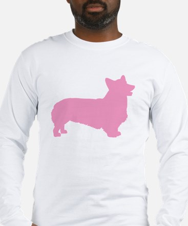 pembroke welsh corgi pink Long Sleeve T-Shirt