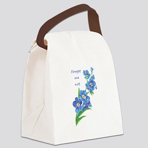 Forget-Me-Not Watercolor Flower & Quote Canvas Lun