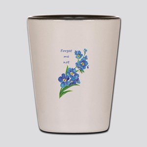 Forget-Me-Not Watercolor Flower & Quote Shot Glass