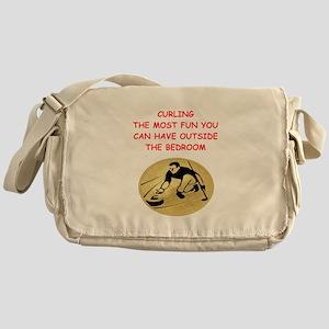 curling,curler Messenger Bag