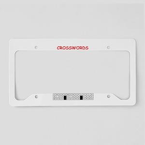 crosswords License Plate Holder