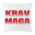 Krav Maga Woven Throw Pillow