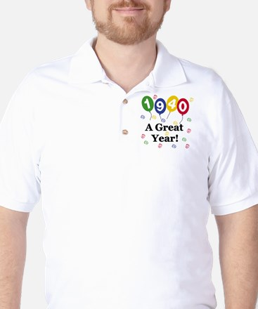 1940 A Great Year Golf Shirt